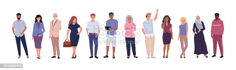istock Group of people of different ages 1216388403