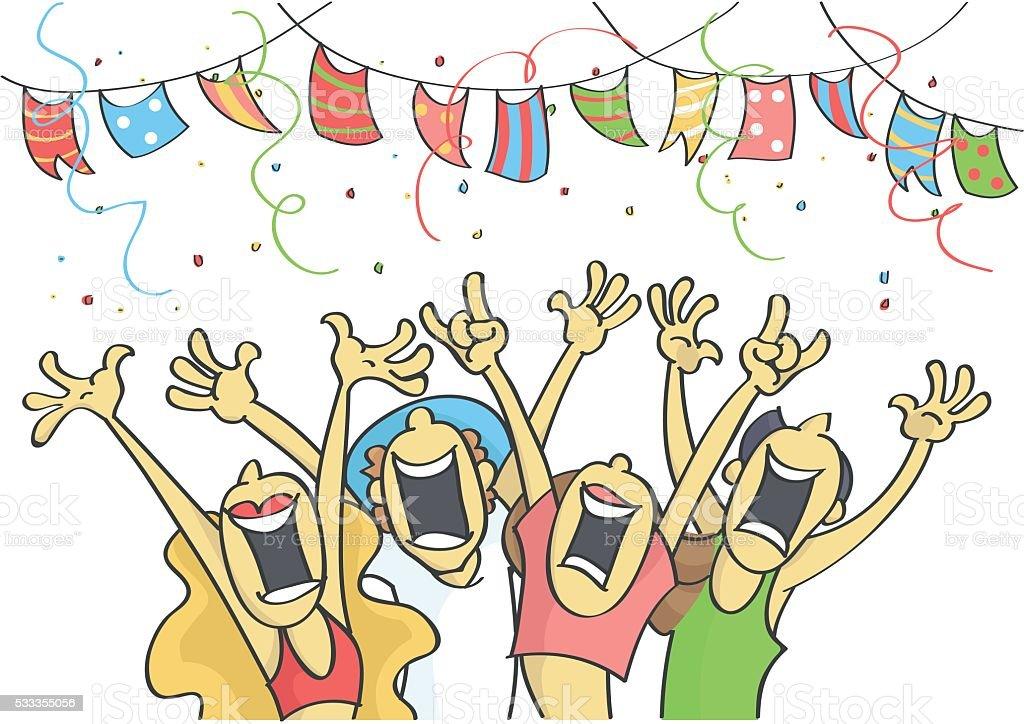 Картинки с вечеринкой прикольные рисованные, веселый алкаш