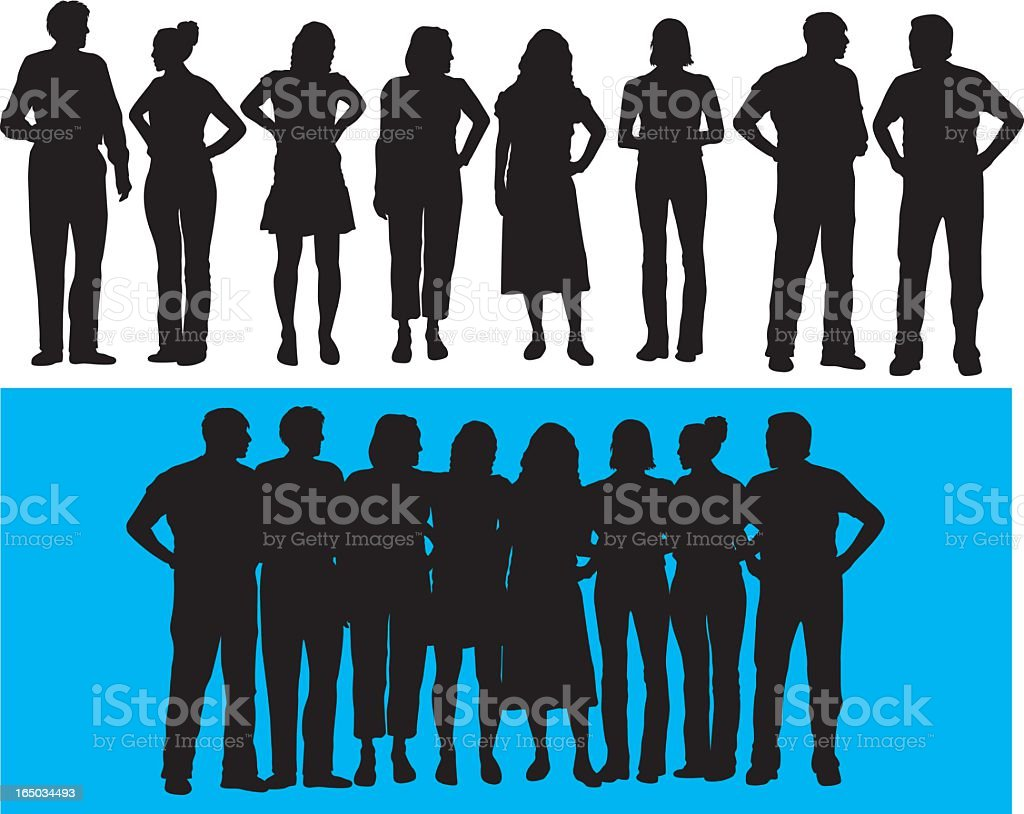 Group of People ( Vector ) royalty-free stock vector art