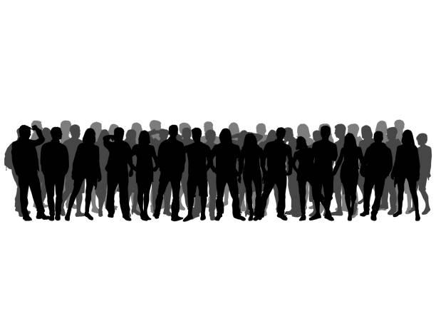 Group of people Group of people crowd of people stock illustrations
