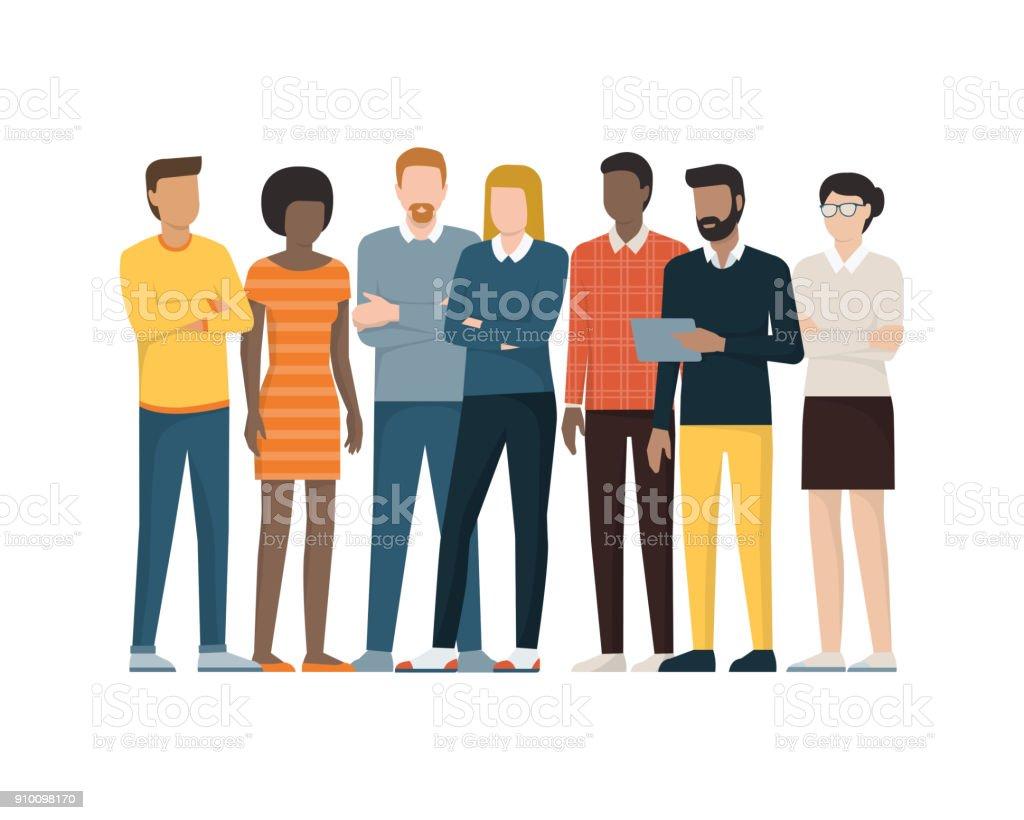 Grupo de personas ilustración de grupo de personas y más vectores libres de derechos de adulto libre de derechos