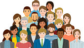 Group of people. Created with adobe illustrator.