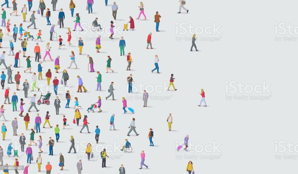 人々の集まり - アフリカ民族のロイヤリティフリーベクトルアート