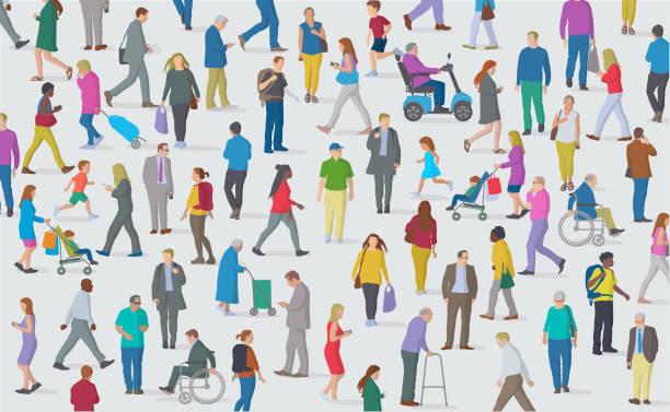 ilustrações de stock, clip art, desenhos animados e ícones de group of people - crianças todas diferentes
