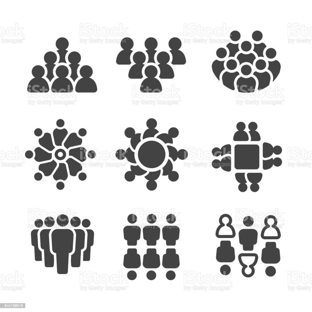 group of people,population icon vector art illustration