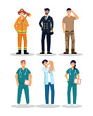 istock group of six workers professions avatars characters 1296255514