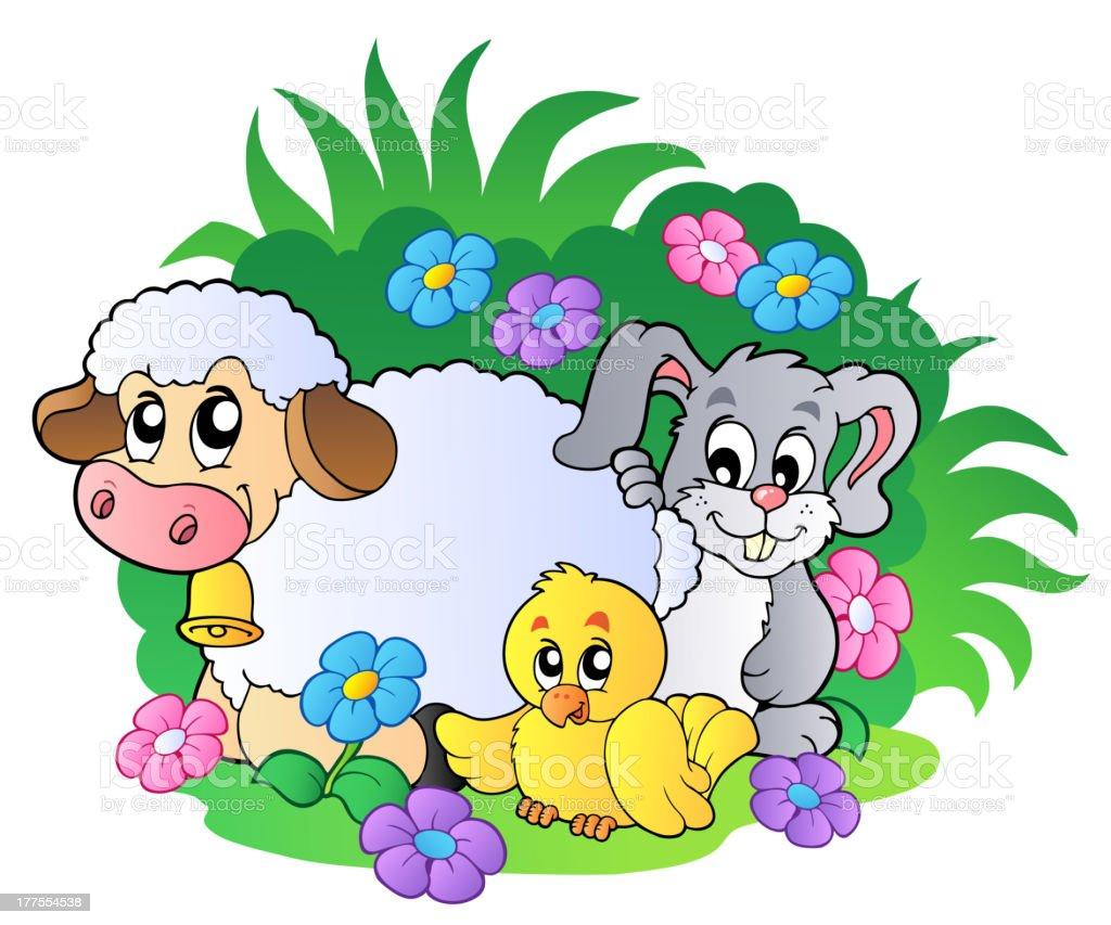 グループ春の動物 - イラストレーションのベクターアート素材や画像を