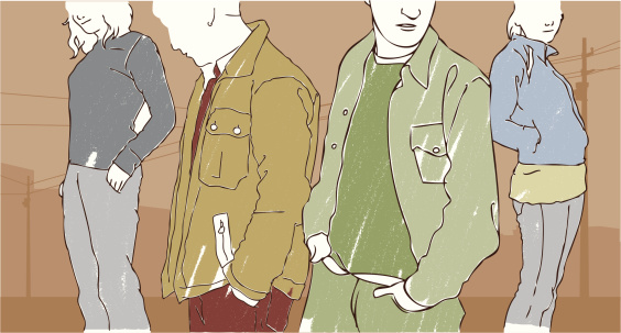 Street fashion stock illustrations
