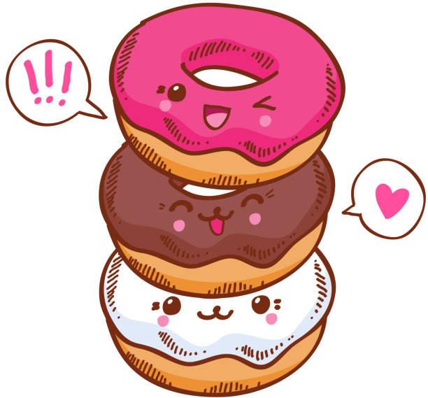 Grafika wektorowa ikony ilustracje kawaii na licencji for Decoration cuisine kawaii