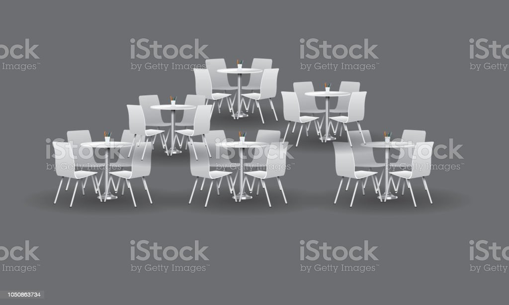 Outstanding Group Of White Modern Round Tables With Chairs Vector Pdpeps Interior Chair Design Pdpepsorg