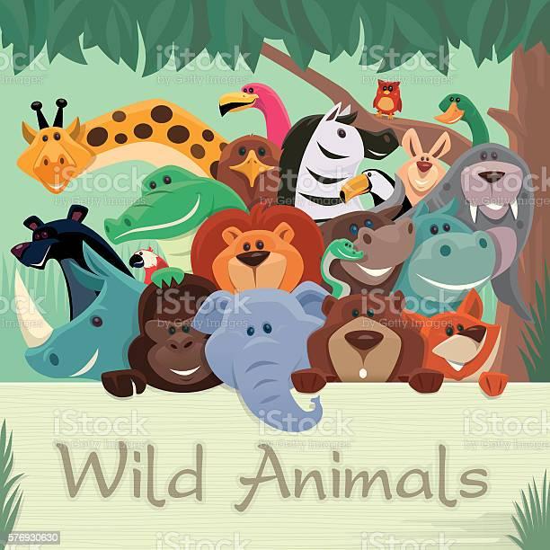 Group of wild animals gathering vector id576930630?b=1&k=6&m=576930630&s=612x612&h=tbmk3vtlbqrrsm1w80pzv 6x5dk5 kpq29vqxugwnju=