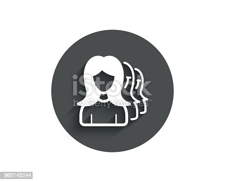 Group Of Women Simple Icon Teamwork Sign Stock Vector Art & More Images of Adult 965145244