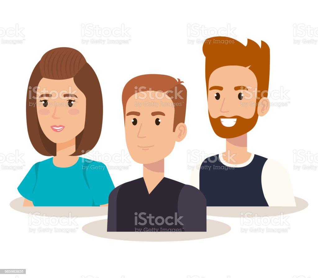 groep jongeren avatars - Royalty-free Avatar vectorkunst