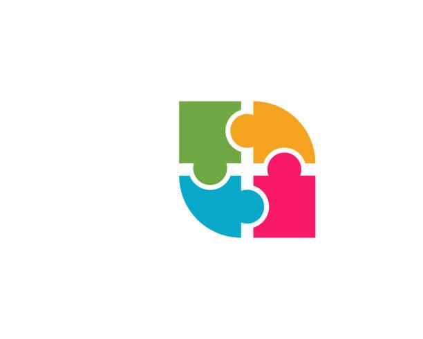 stockillustraties, clipart, cartoons en iconen met groep mensen zorg logo vector pictogram sjabloon - sociale dienst