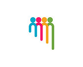 Group people care Logo template vector icon