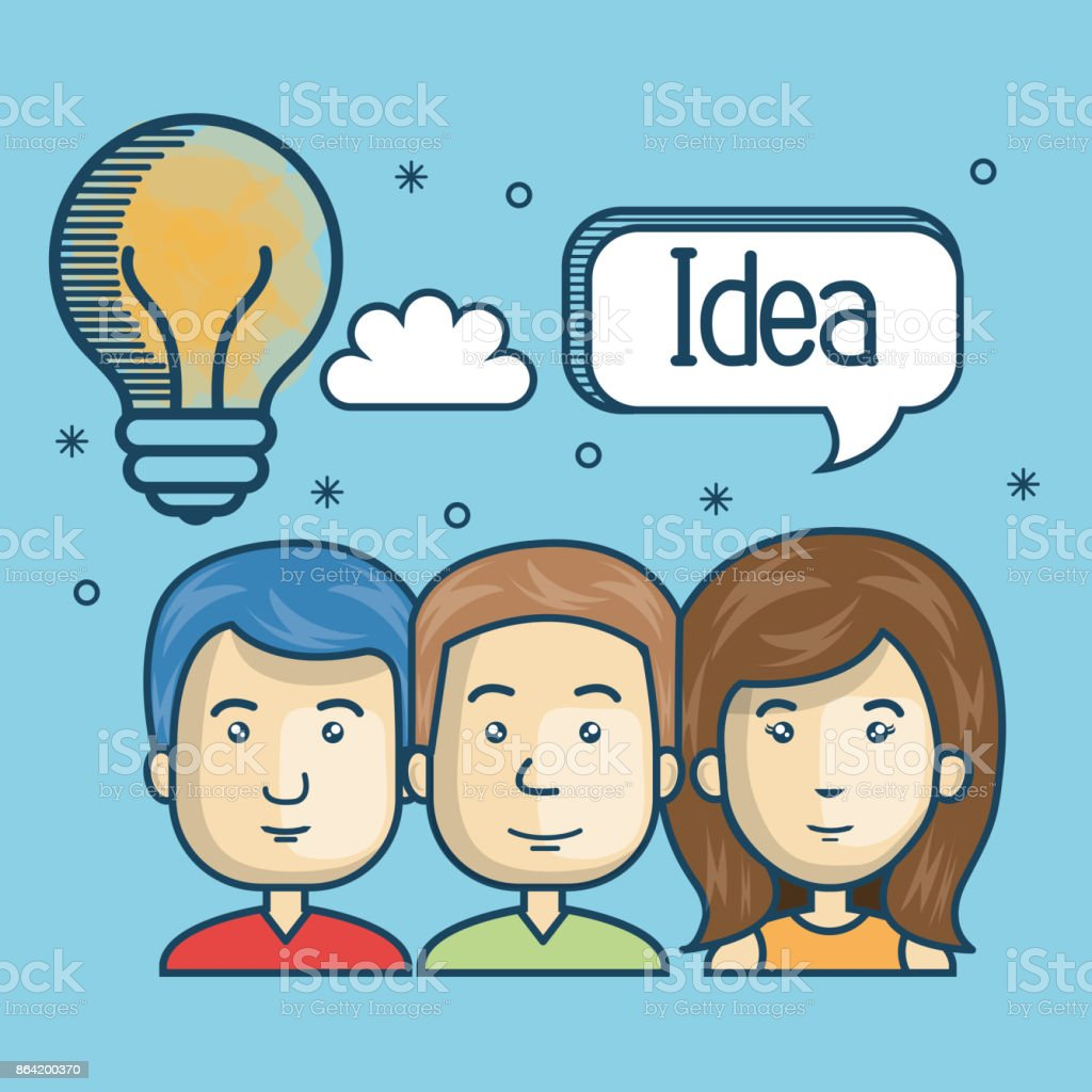 group person idea creative design royalty-free group person idea creative design stock vector art & more images of adult