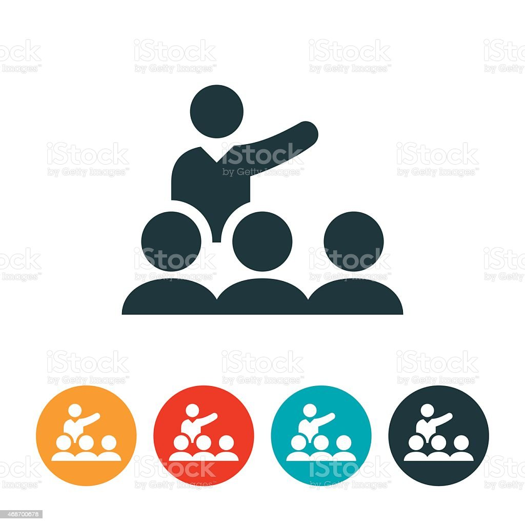 Group Presentation Icon vector art illustration
