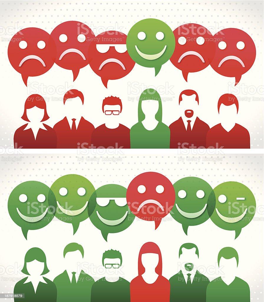 da76c0ffcd510 Grupo com feliz e triste balão de bolhas grupo com feliz e triste balão de  bolhas