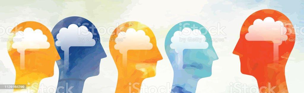 Gruppe mit Leader-Konzept - Lizenzfrei Acrylmalerei Vektorgrafik