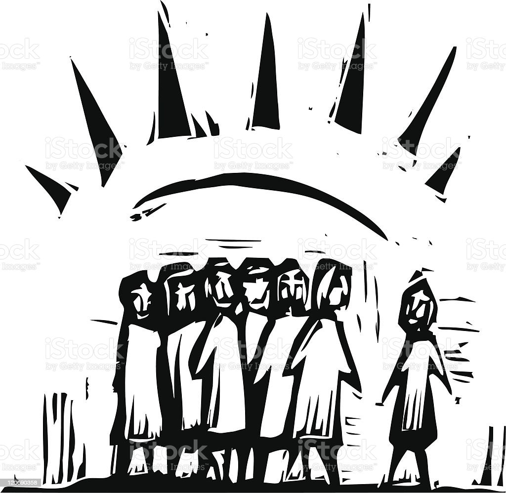 Group with Rays #2 vector art illustration