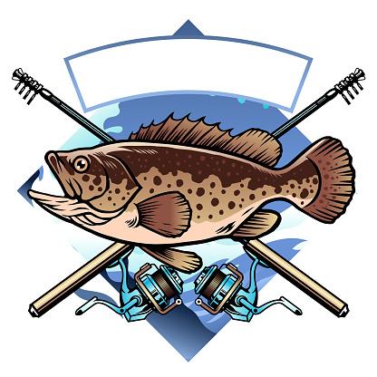 grouper fishing shirt design