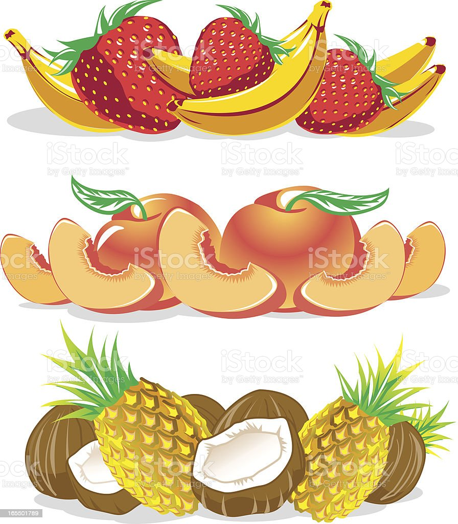 Groups of Fruit royalty-free stock vector art