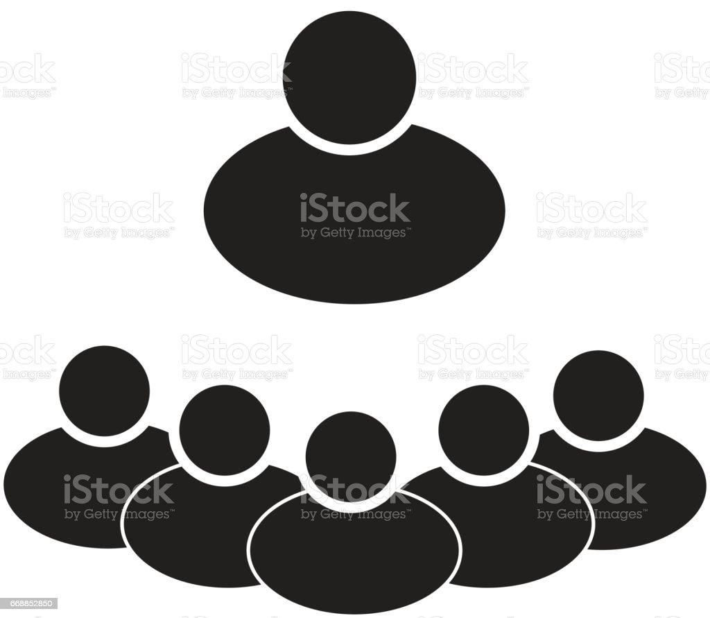 groupes de personnes sur fond blanc. groupes de personnes de signer. - Illustration vectorielle