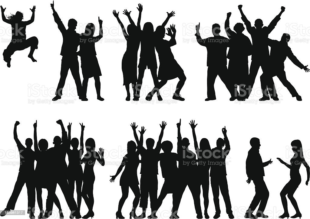 Groups (23 Moveable and Complete People) vector art illustration