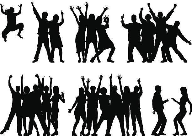 Groups (23 Moveable and Complete People) Each person is complete and can be used separately if needed. excitement stock illustrations