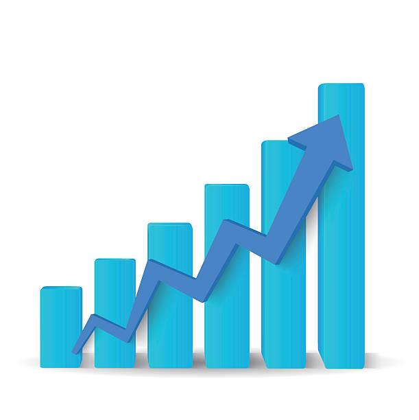 growing blue graph - 賺錢 幅插畫檔、美工圖案、卡通及圖標