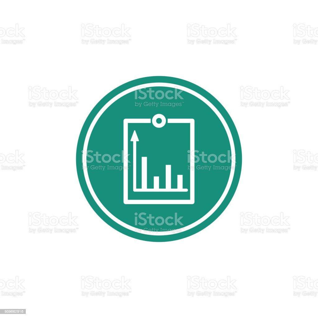 Un gráfico creciente es un icono. Ilustración de vector. - arte vectorial de Abstracto libre de derechos