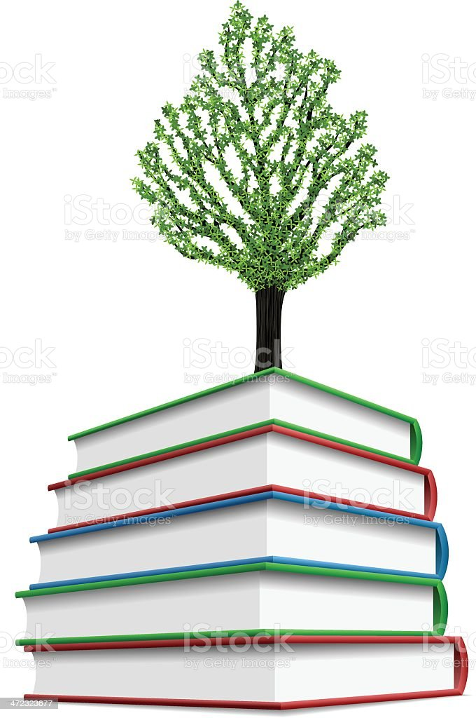 Growing knowledge royalty-free stock vector art