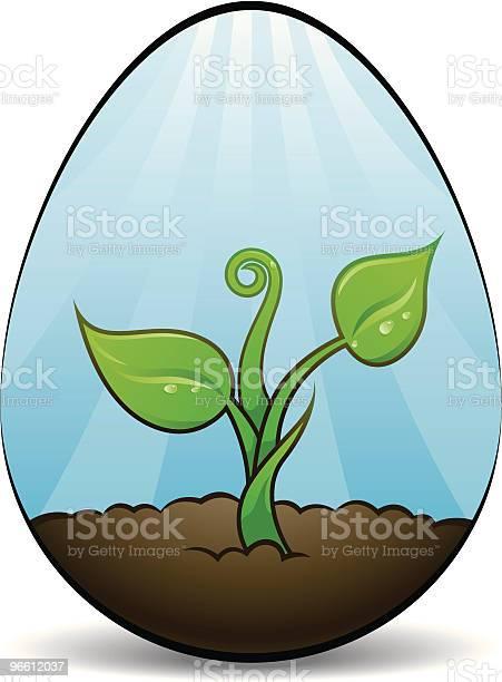 Wachsende Life Ei Stock Vektor Art und mehr Bilder von Blatt - Pflanzenbestandteile