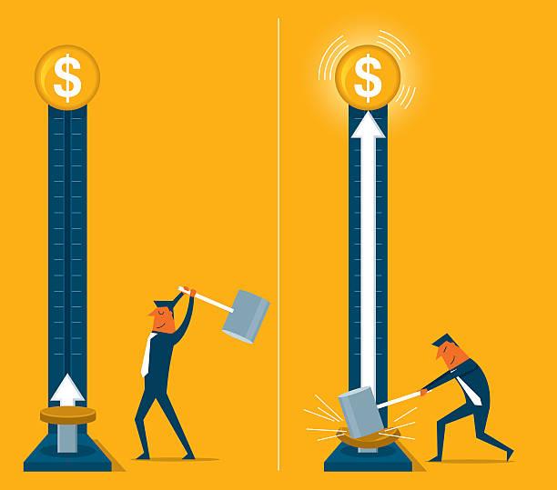 ilustrações de stock, clip art, desenhos animados e ícones de crescer dinheiro - greve