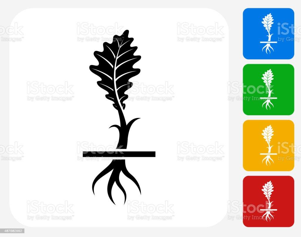 Ilustración de Icono De Planta Crece De Roble De Diseño Gráfico ...