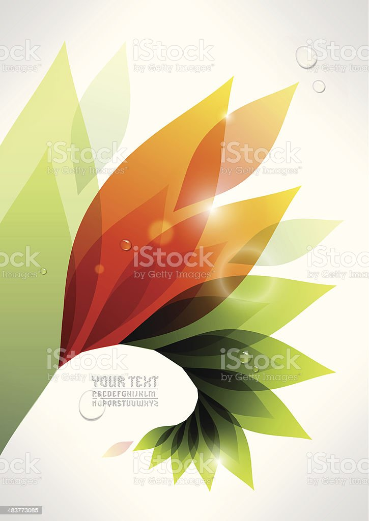 growing plant background royalty-free stock vector art