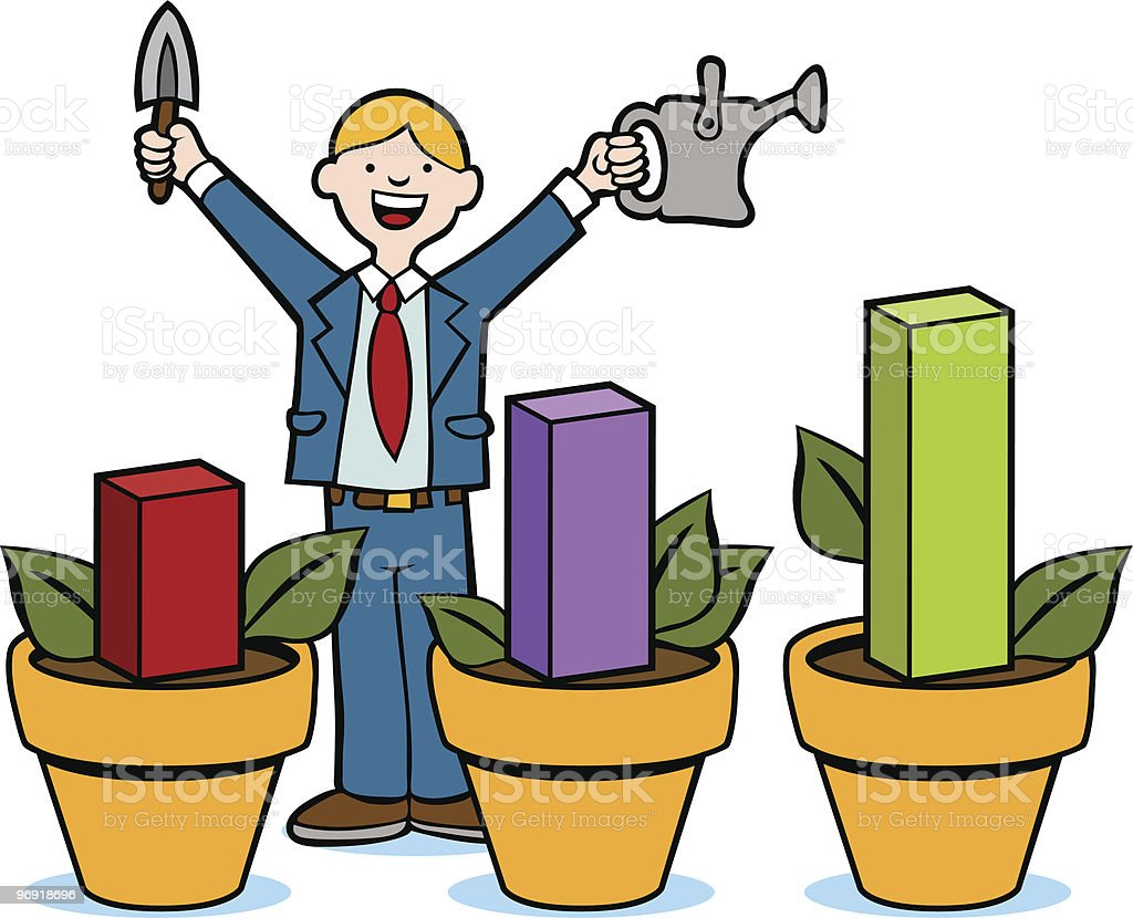 Growing Profit royalty-free growing profit stock vector art & more images of adult