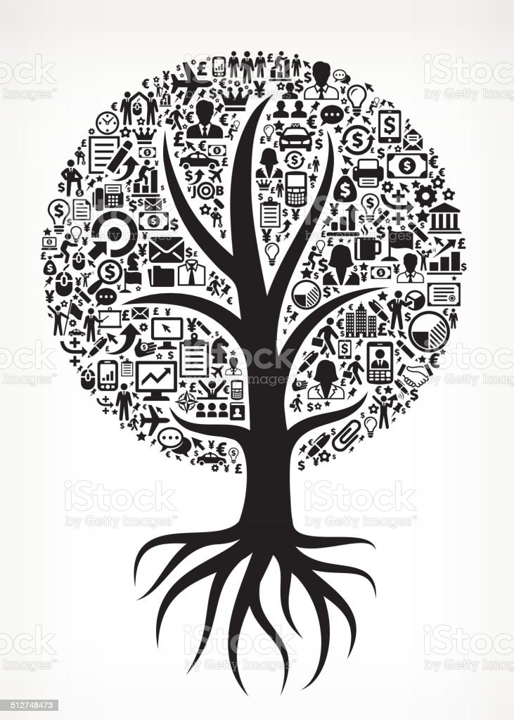 Growing Tree Business royalty free vector arts vector art illustration