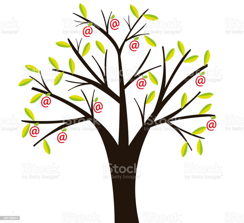 Growings contacts vector art illustration