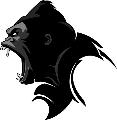 Growling Gorilla Sideview