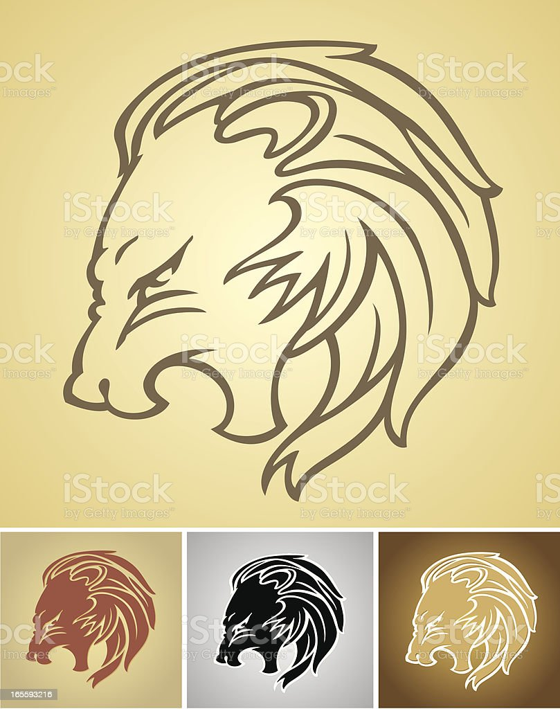 Growling Lion Head royalty-free stock vector art