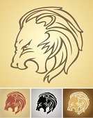 Growling Lion Head