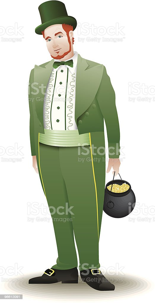 Grown man leprechaun - Royalty-free Adult stock vector