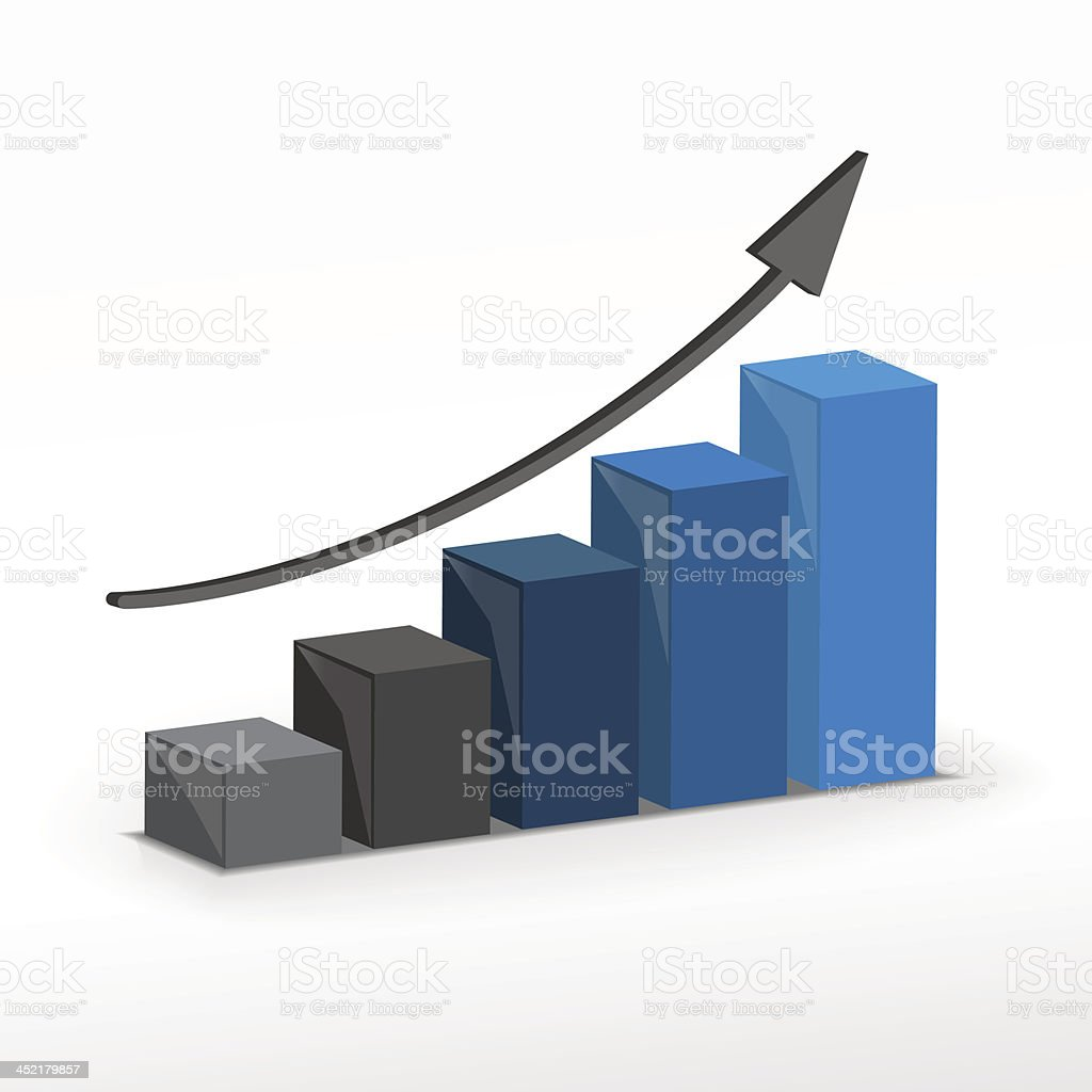 3D growth bar chart royalty-free 3d growth bar chart stock vector art & more images of analyzing