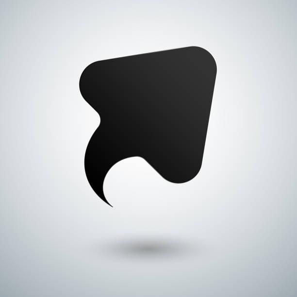ilustrações, clipart, desenhos animados e ícones de crescimento seta lisa preta com sombra vector - tag