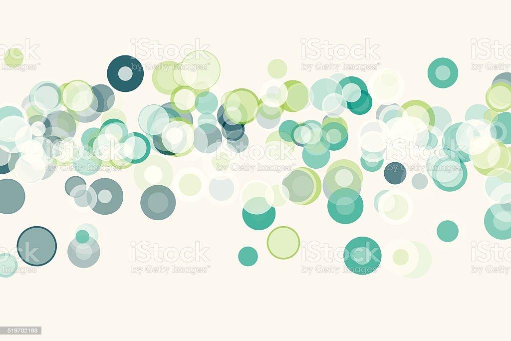 Growth Bokeh Circle Pattern Horizontal vector art illustration