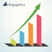 Growth Business Arrow of Success Infographics. Vector illustration.
