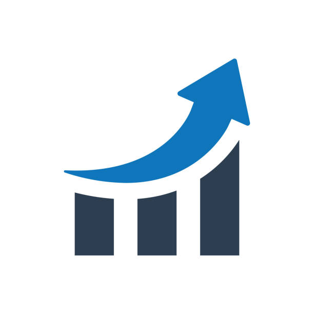 wachstum diagrammsymbol - messlatte stock-grafiken, -clipart, -cartoons und -symbole