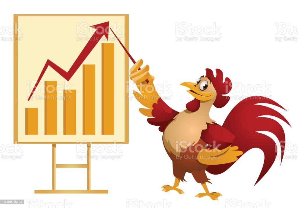 Ilustración de Tabla De Crecimiento Gallo Rojo Hacer Una ...