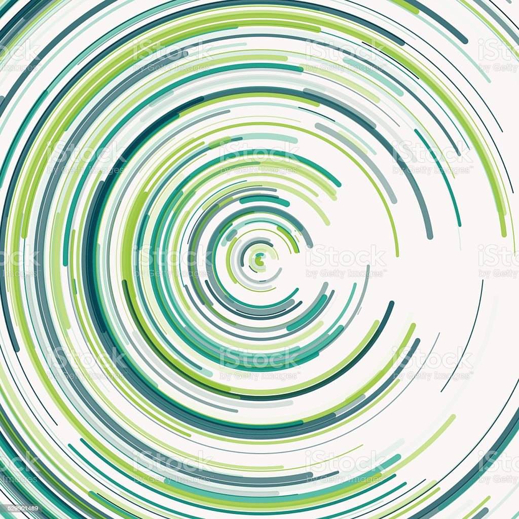 Growth Concentric Circle Pattern vector art illustration
